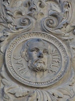 Praxiteles - Medaillon representing Praxiteles