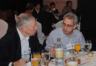 Ernesto Zedillo - Ernesto Zedillo with Edmund Phelps, winner of the 2006 Nobel Memorial Prize in Economic Sciences, at the World Economic Forum's Summit on the Global Agenda 2008