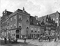 Eduard Alexander Hilverdink - Café de Koperen Toonbank, hoek Kalverstraat - Spui met op de voorgrond de Osjessluis - SA 28387 - Amsterdam Museum.jpg