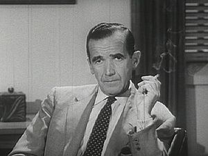 News analyst Edward R. Murrow