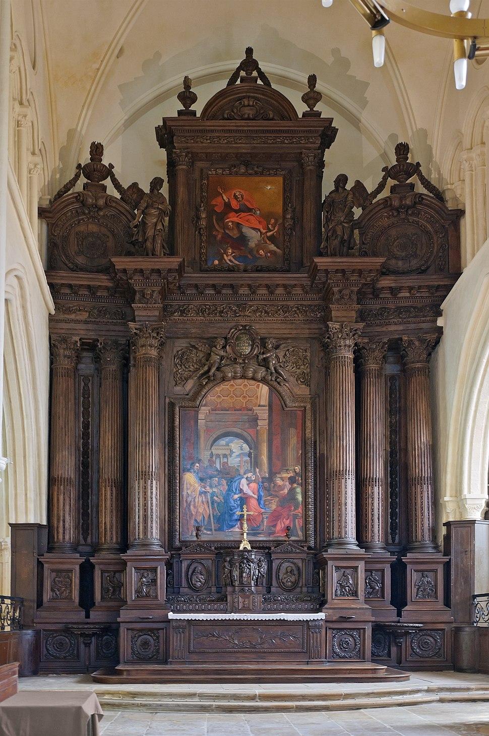 Eglise Saint-Ayoul Provins retable maitre-autel