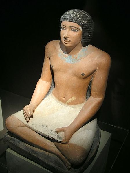 http://upload.wikimedia.org/wikipedia/commons/thumb/f/f8/EgyptianScribe.jpg/449px-EgyptianScribe.jpg