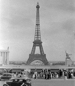 Eiffel-torony, Világkiállítás 1937. Fortepan 4776.jpg