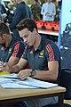 Einkleidung der deutschen Olympiamannschaft Rio 2016 Medientag Hannover 0126.jpg