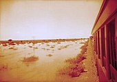 Passenger train in Namibia at the time of the South African occupation