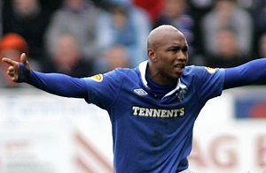 El Hadji Diouf - Diouf playing for Rangers