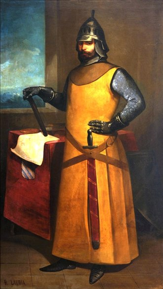 Battle of Malta - ''Admiral Roger of Lauria'', painting by Nicolás Ruiz de Valdivia y Aguilera.