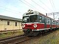 Elbląg, nádraží, EN 57 s rekonstruovaným předním čelem.JPG