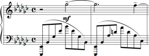 Morceaux de fantaisie - Elegie is a slower, more meditative piece compared to the others