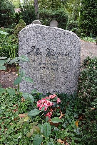 Elsa Wagner - Grave in Friedhof Dahlem in Berlin-Dahlem