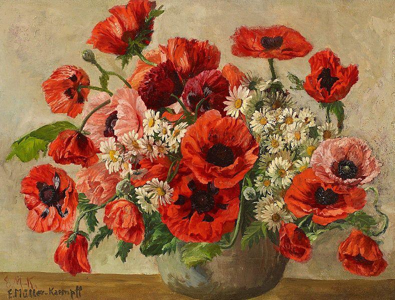 File:Elsbeth Müller-Kaempff Blumenstrauß mit rotem Klatschmohn.jpg