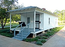Presley's birthplace in Tupelo, Mississippi Elvis' birthplace Tupelo, MS 2007.jpg