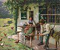 Emil Rau Junges Paar vor einem Bauernhaus.jpg