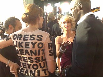 Heidi Klum - Project Runway season three finalist Laura Bennett interviews Klum and Seal at the 59th Emmy Awards
