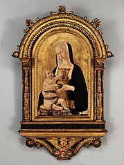Engaged arched cassetta frame and arched tabernacle frame