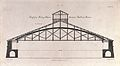 Engineering; a wide-span wooden truss-beam roof. Engraving b Wellcome V0024252.jpg