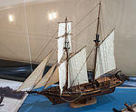 England, sailing ship with eight sails, model in the Vatican Museums.jpg