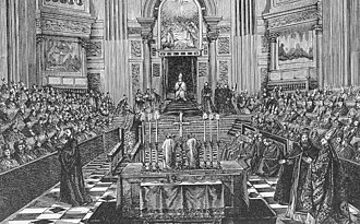 First Vatican Council - Drawing showing the First Vatican Council