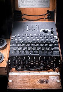 Die Schlüsselmaschine Enigma (links Am Bildrand: Zwei Separate Walzen)