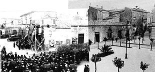 Palazzo Varisano durante una manifestazione del ventennio fascista