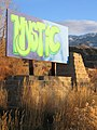 Entrance Sign at Mystic Hot Springs dyeclan.com - panoramio.jpg
