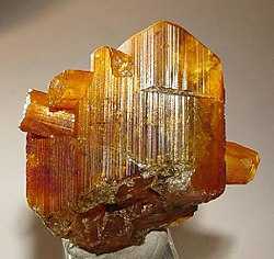 An eosphorite crystal mined near Mendes Pimentel