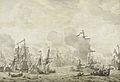 Episode uit de slag in het Sont tussen de Hollandse en Zweedse vloot, 8 november 1658 Rijksmuseum SK-A-1388.jpeg