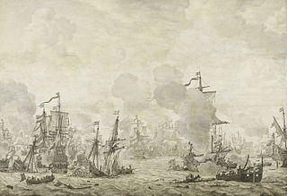 Episode from the Battle of the Sound between the Dutch and Swedish fleets, 8 November 1658