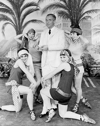 The Boy Friend (musical) - From the original Broadway production, clockwise from left: Stella Claire, Lyn Connorty, Eric Berry, Dilys Lay, Millicent Martin (1955)