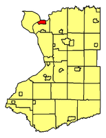 Location of Tonawanda in Erie County