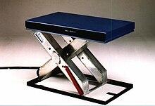 hubtisch wikipedia. Black Bedroom Furniture Sets. Home Design Ideas
