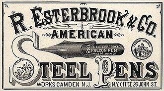 """Esterbrook - 1866 card featuring the 066 """"Falcon Pen""""."""