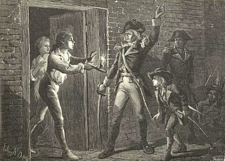 Capture of Fort Ticonderoga battle during the American Revolutionary War on May 10, 1775