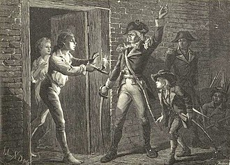 Capture of Fort Ticonderoga - Image: Ethan Allen Ticonderoga By JS Davis