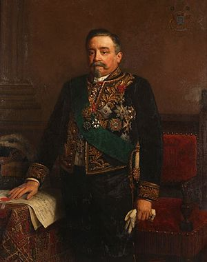 Edouard Osy de Zegwaart - Portrait of baron Edward Osy de Zegwaart by Eugène Siberdt, 1890