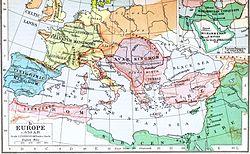 Politische Karte von Europa und dem Mittelmeerraum
