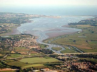 River Exe river in Devon and Somerset, England