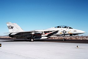 An F-14A Tomcat of VF-1 assigned to CVW-2 in 1986.