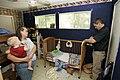 FEMA - 31285 - FEMA damage inspector in resident's home in Texas.jpg