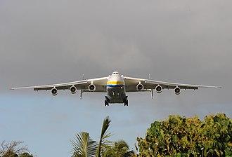 Pago Pago International Airport - Antonov 225 on final approach to Pago Pago International Airport Runway 5/23.