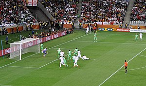 Raïs M'Bolhi - M'Bolhi in goal against England during the FIFA World Cup 2010 held in South Africa.