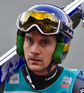 Anssi Koivuranta Finnish ski jumper and Nordic combined athlete