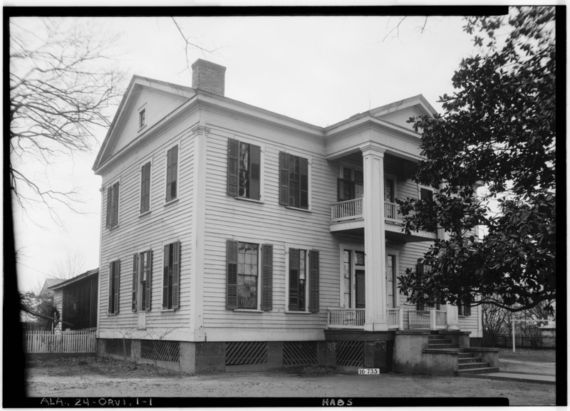 File:FRONT VIEW - Smith-Sutton House, State Highway 22, Orrville, Dallas County, AL HABS ALA,24-ORVI,1-1.tif