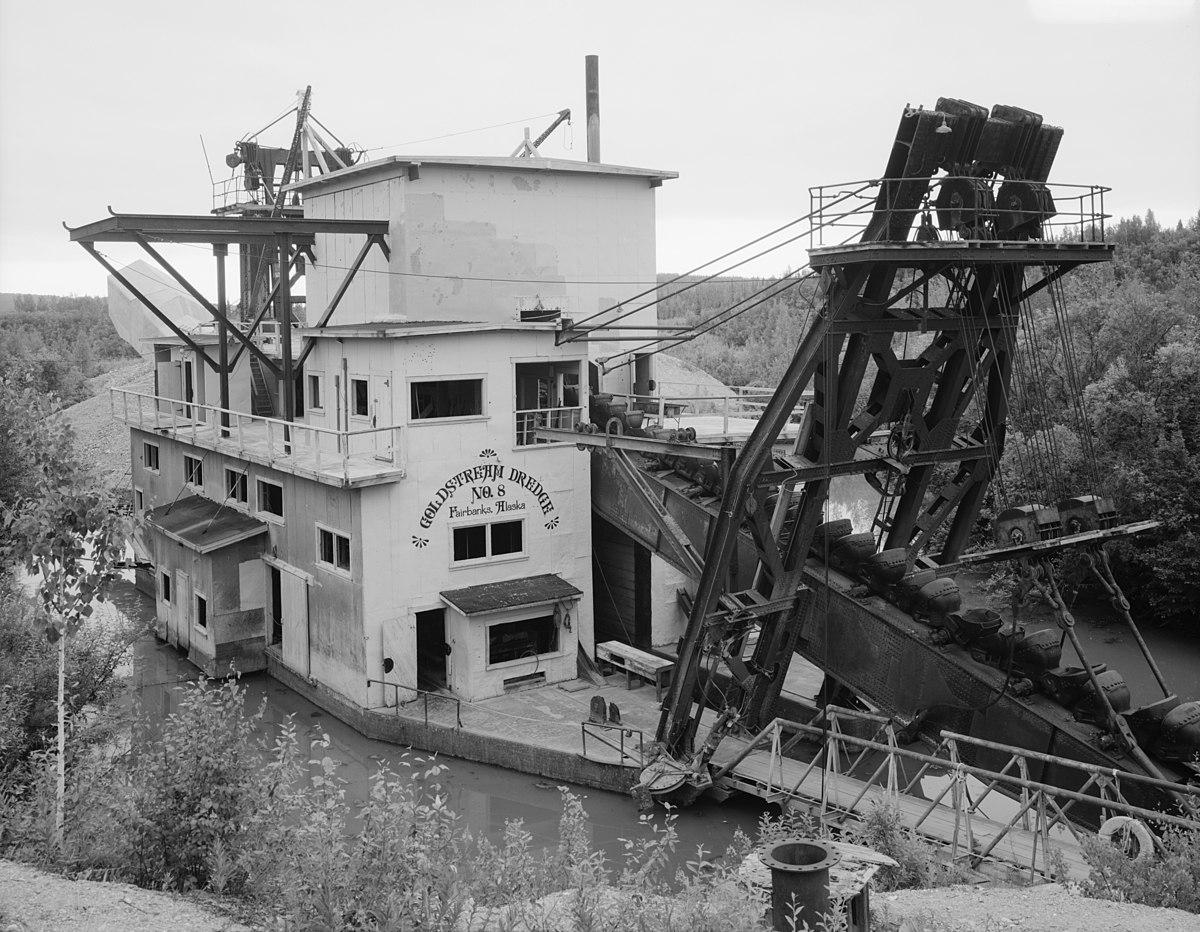 Historic Gold Dredges : Goldstream dredge no wikipedia