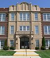 Fairbury, Nebraska Junior-Senior High School W entrance 1.JPG