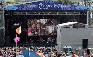 Fairport Convention - The stage at Fairport's Cropredy Convention in August 2009