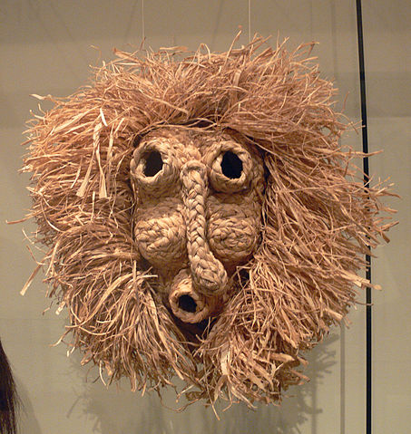Iroquois cornhusk mask for scaring off evil spirits - Native American Medicine and Health