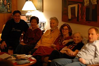 Dorothy Stowe - Dorothy Stowe, second from right, with her family in 2006