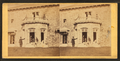 Family posing in front and in the balcony of stone house, from Robert N. Dennis collection of stereoscopic views 7.png
