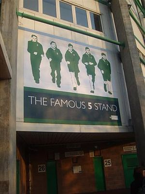 Hibernian F.C. - Picture depicting the Famous Five at Easter Road stadium.